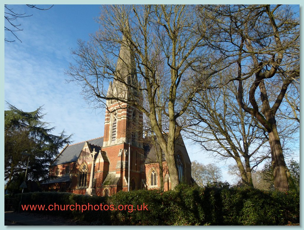 photograph of Bagshot church